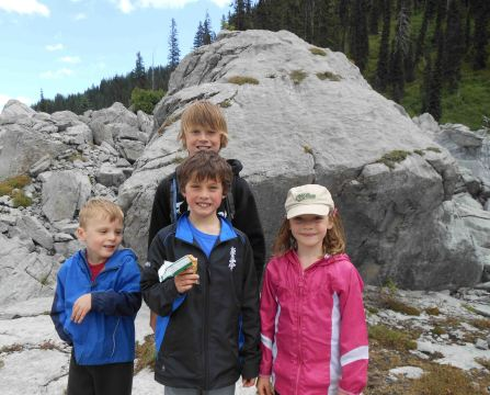 The children loved jumping over rocks at the Mammoth Droppings, the hike highlight.