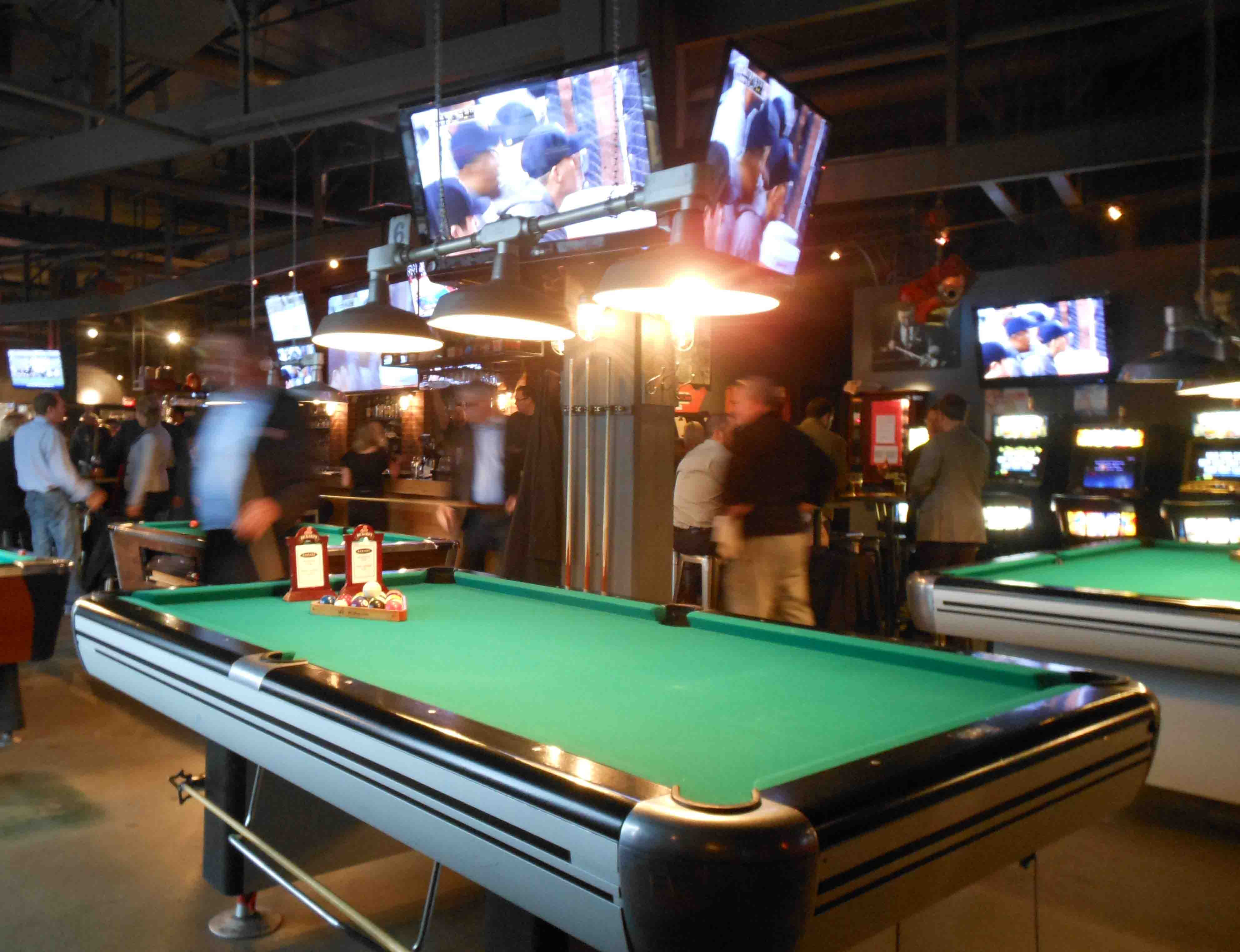 Garage sports bar calgary drink play love pool playing watchthetrailerfo