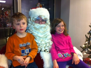 Santa is stoked he only has to bring Bennett a cookie!