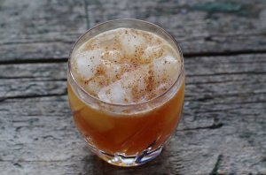 It's strong but so yummy. And it's not often you get to  put nutmeg in a drink!