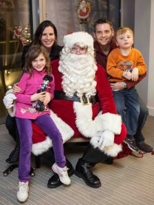 Lisa, Avery (age seven), Santa (ageless), Blake and Bennett (age five).