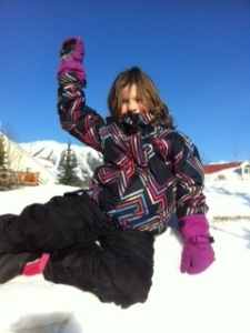 Forget Polar Peak -- Avery has just conquered another snowbank.