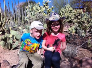 In happier times, before cacti prickles got Avery's finger.