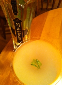 Vodka meets lime and St-Germain.