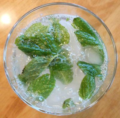 You can almost imagine spring is coming while sipping this St-Germain mojito.
