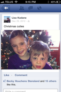 Ah, the Christmas cuties. Seriously, who's going to post about how their kid threw a tantrum when he didn't get a Furby from Santa?