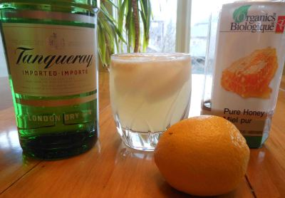Gin + honey syrup + lemon juice = splendid simplicity in a glass.