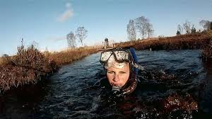 Bog snorkelling in the U.K. -- so weird and kinda gross, and yet so genius!