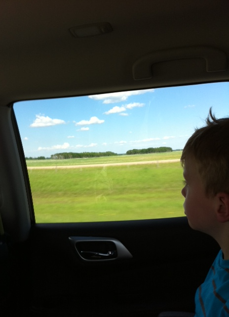 Big prairie skies and fertile fields -- road trip eye candy.