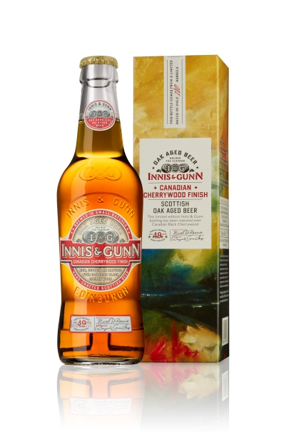 This bold limited-edition Innis & Gunn brew has been matured over Canadian black cherrywood. It's yummy.