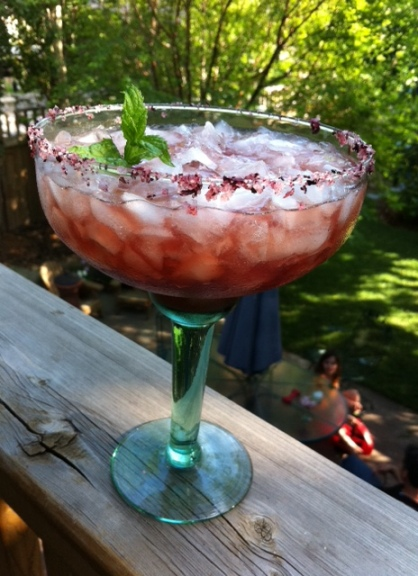 Pretty in purple, the blackberry margarita tastes good too.