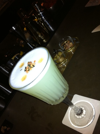 Like its name implies, this twist on a pisco sour, from the Park Hyatt Paris, is spicy!