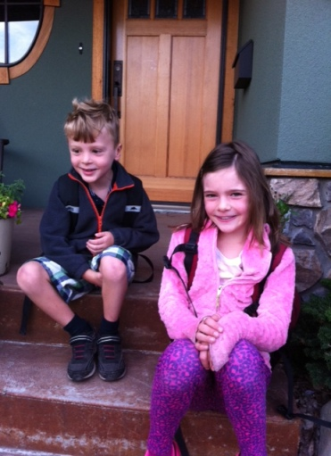 Bennett and Avery were super excited about their first day of school.