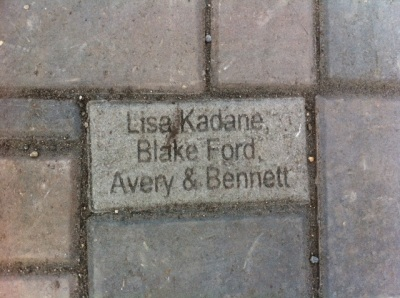 I also love that we have a donor brick in the pathway! A very cool (and affordable) way for families to get involved and take ownership of the new park.