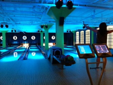 Bowling in the basement at National on 10th is a fun way to spend an evening.