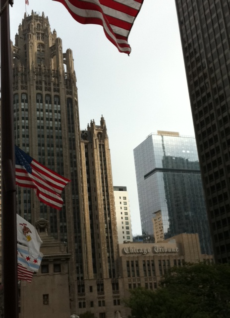 I love art deco and I also love that the Chicago Tribune resides in a statement building.