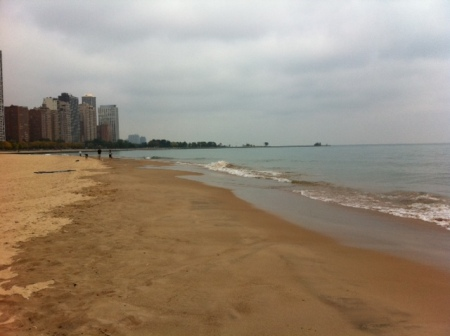 A lovely beach in downtown Chicago.