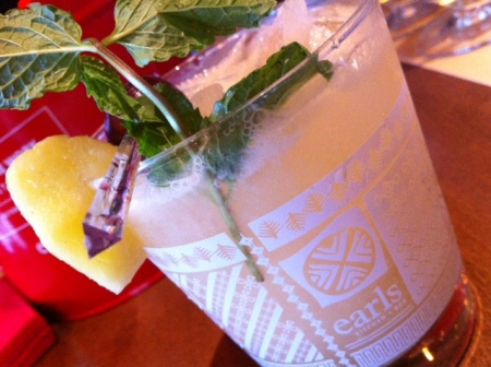Earls' Mai Tai, a tart and tropical classic cocktail, pairs nicely with shellfish.