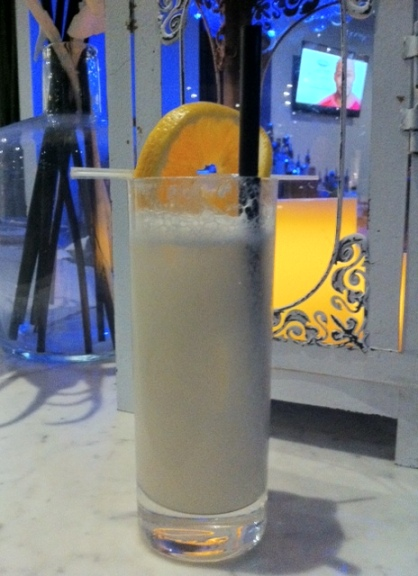 Hotel Arts has switched up this classic New Orleans cocktail by using a duck egg white to be more in line with its new VietModern menu.
