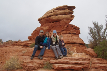 One of only two family photos taken this year, in Sedona, Ariz.