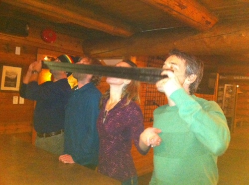 Nothing says Canadian pares-ski quite like a Burt Reynolds shot ski!