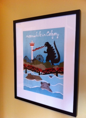 Our new framed print will  remind to man the sump pump during future flood events.