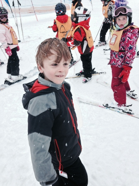 Bennett is excited and proud to be skiing!
