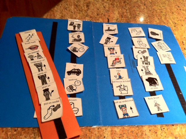 visual schedules for kids with autism | Drink - Play - Love