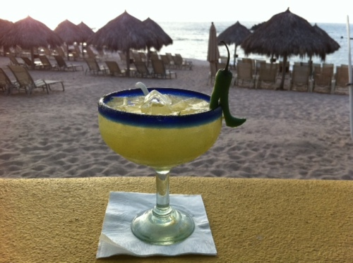 A margarita at sunset.
