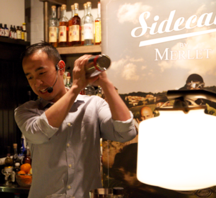 Competition winner Jimmy Nguyen of Teatro knows his way around a cocktail shaker -- and all the ingredients of a Sidecar.