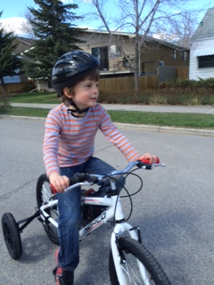 Bennett cruises the 'hood on his new Norco adapted bike from Bow Cycle.