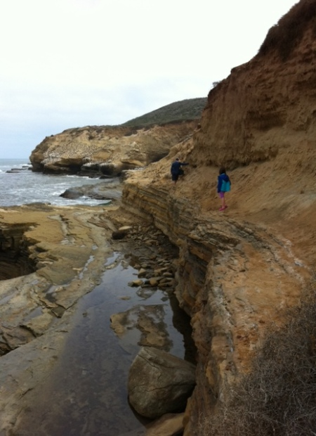 A rising tide at Cabrillo National Monument means limited access to tide pools and a couple of nerve-wracking cliff walks.