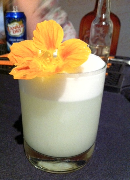 This twist on a Cointreau fizz is like a Cointreau-Ramos gin fizz hybrid. Do try this at home.