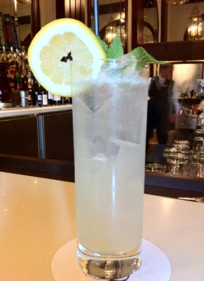 "This lovely long drink is on the ""FAME"" (Fairmont Artistic Mixology Experience) menu at the Fairmont Palliser hotel."