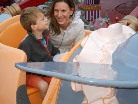 Flying rides like Dumbo at Disneyland are right up Bennett's alley.