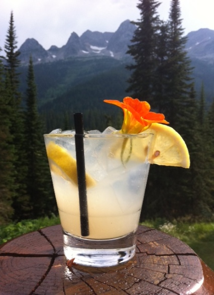 A gin lemonade is just the thing to ease pain and aid hydration after an epic backcountry hike.