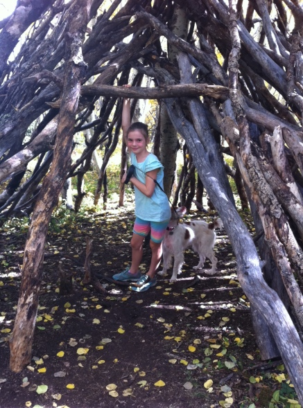 This wood fort 'tepee' was a new addition along the trail.