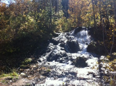 We like to hike the loop backwards so we're rewarded with the waterfalls at the end of the trail.
