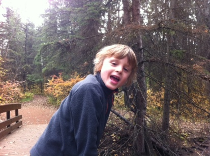 Nature trails at Rotary Park. (Bennett is so over playground equipment and prefers  hiking where possible.)