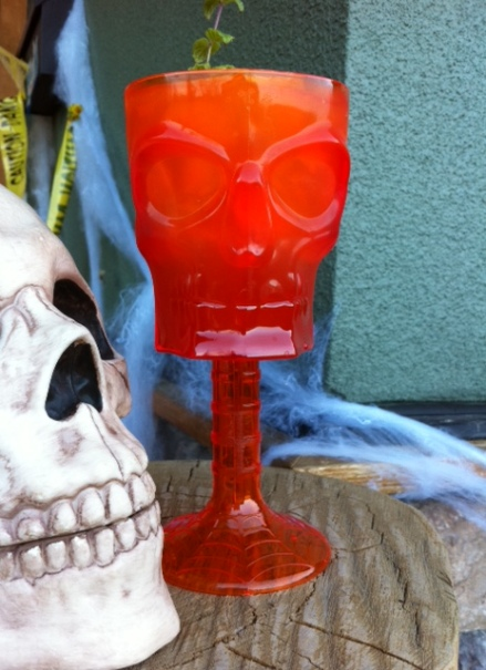 Drink this Halloween cocktail too fast and you might get a brain freeze.