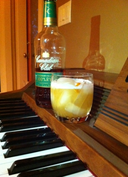Doesn't the piano evoke and old-school bar? (It's in my kitchen.)