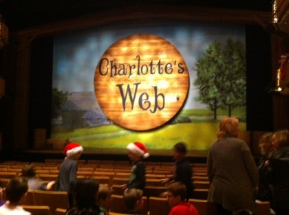Charlottes Web is running at Alberta Theatre Projects through Dec. 31, 2014.