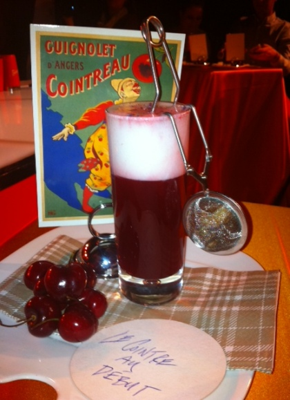 Winning cocktail Le Cointreau Au Debut is a pleasing mix of Cointreau and cherry juice by Montreal bartender Rachel Osborne.