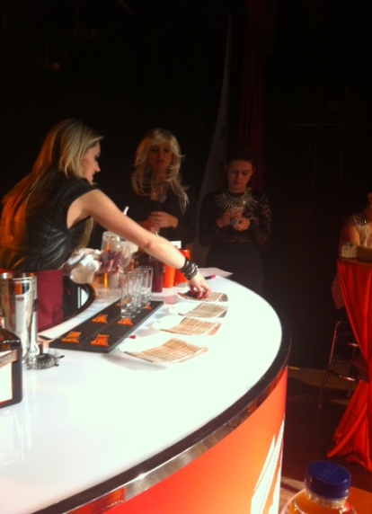 Rachel Osborne readies the bar for her Cointreau-cherry juice cocktail on Monday night at Revival Bar in Toronto.