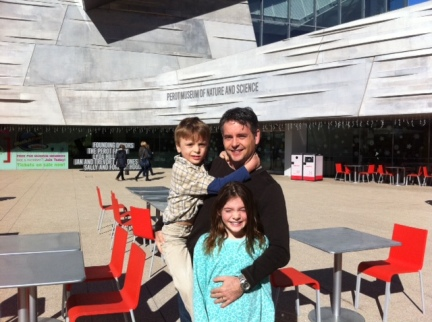 Posing outside the Perot Museum in Dallas. As in Ross Perot. Remember him?
