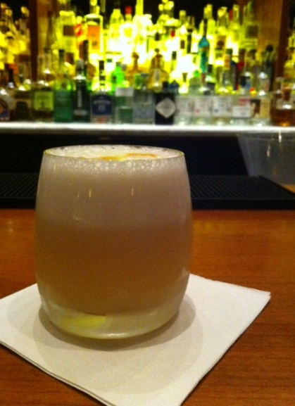 Grapefruit meets bourbon in this tasty twist on a Boston Sour.