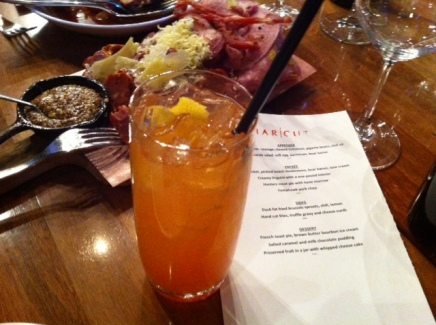 This strong and spicy cocktail complements Charcut's charcuterie.