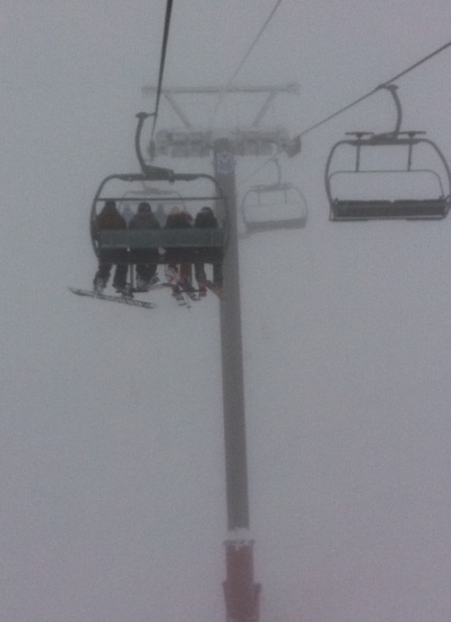 White Pass chair takes skiers into the clouds, and the powder that awaits in Currie Bowl.