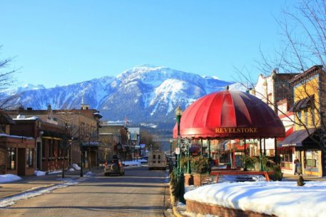 Revelstoke has cute heritage buildings, great views and access to some amazing ski terrain.