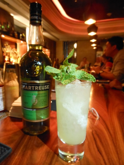 The Chartreuse Swizzle is a great introduction to Green Chartreuse, a liqueur made from a staggering 130 herbs and plants.